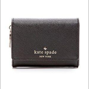 Kate Spade Black Leather Keychain Wallet
